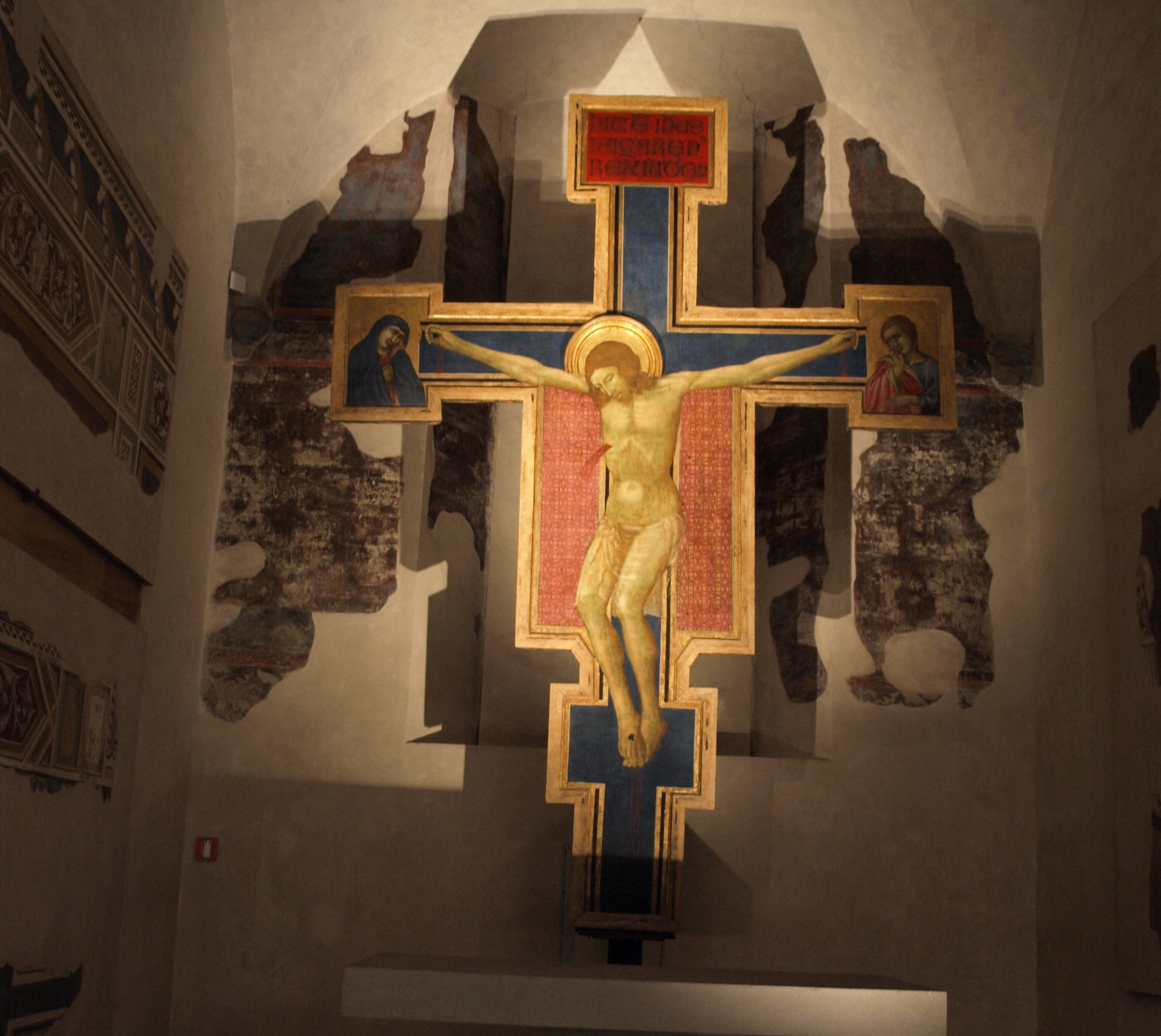 Itálie - Florencie - Ukřižování, Cimabue, Santa Croce, kolem 1265