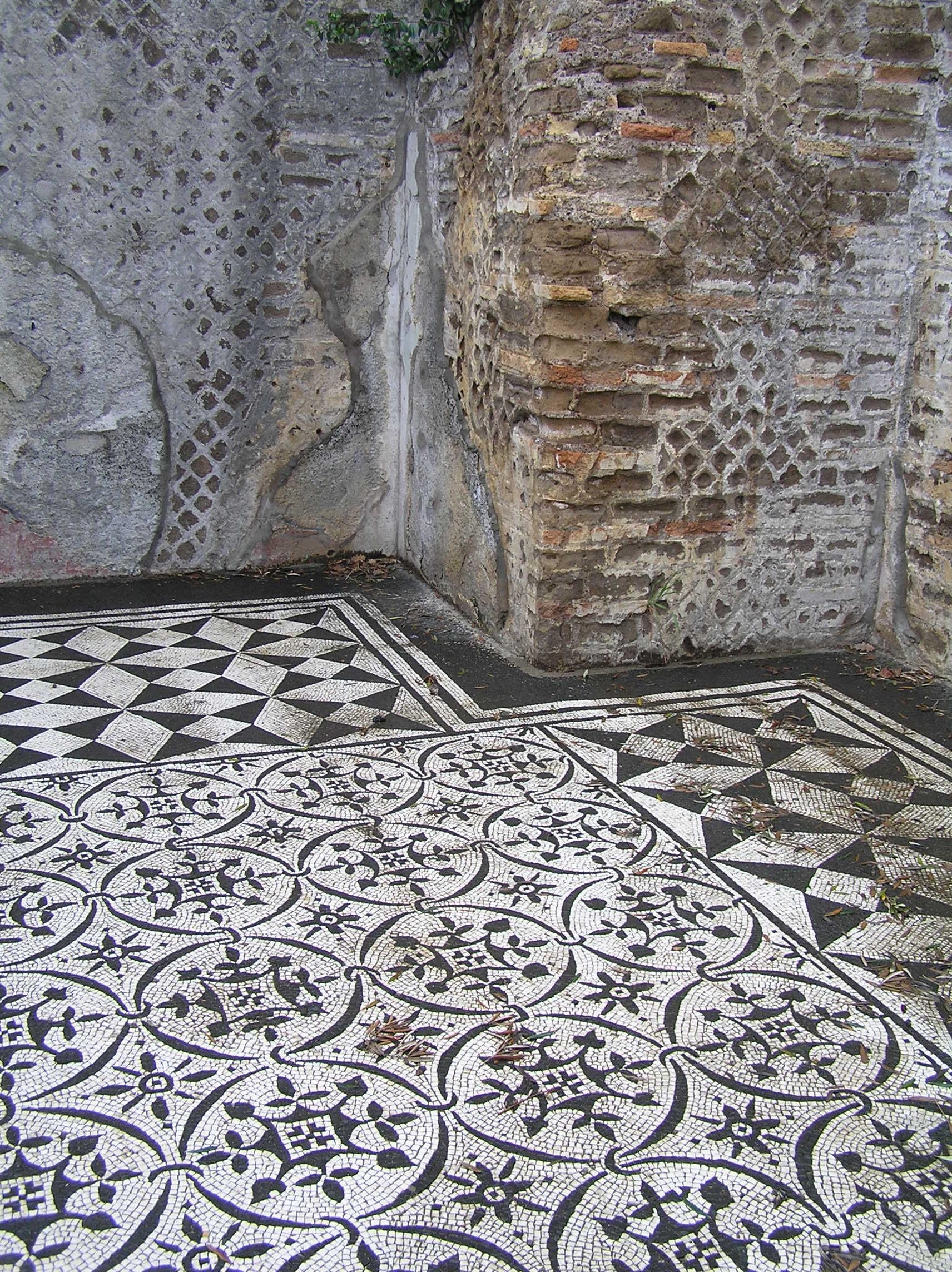 Itálie -Tivoli - Hadrianova vila, mosaiky v kasárnách prétoriánů