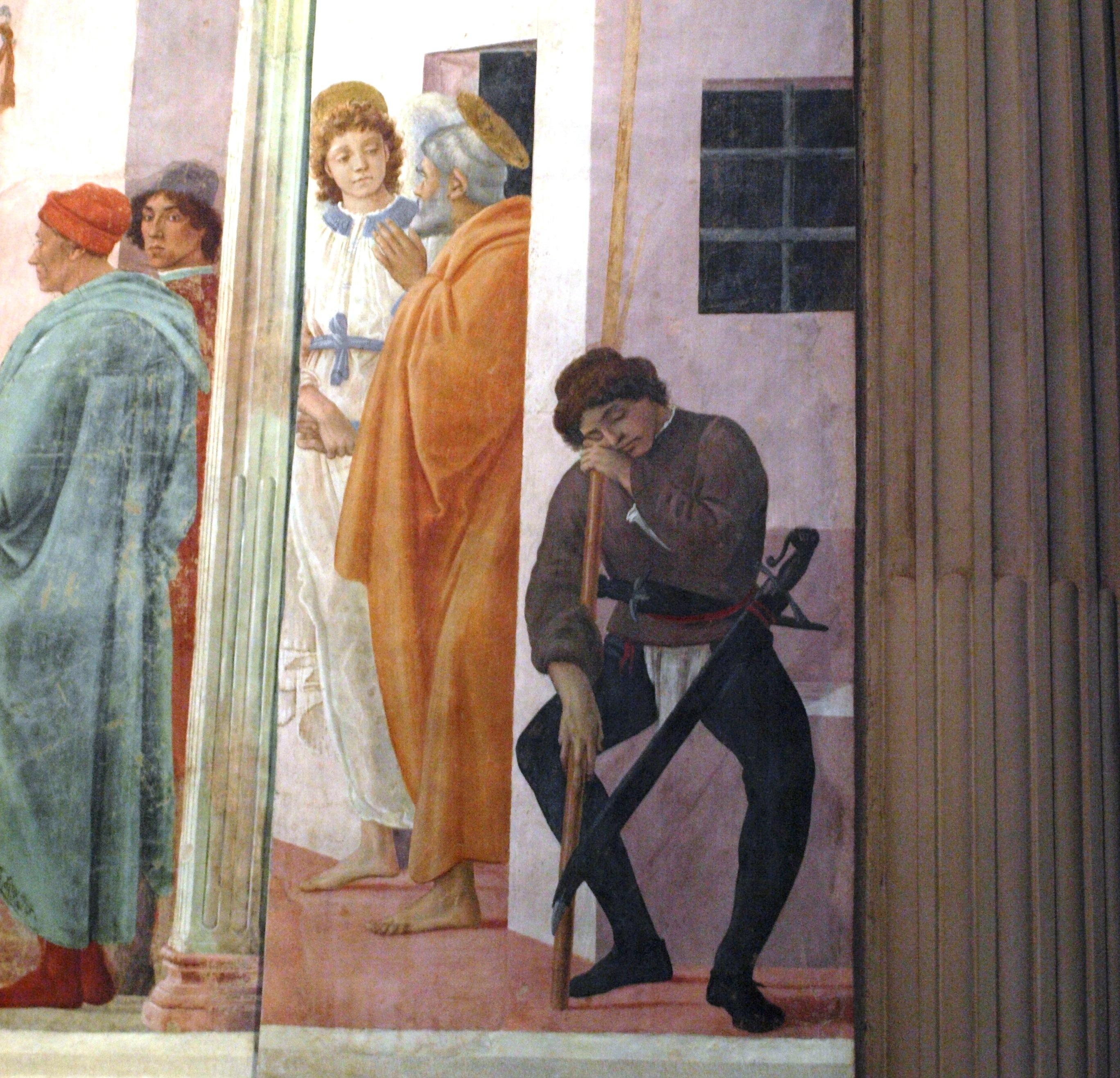 Itálie - Florencie - kaple Brancacciů, Osvobození sv.Petra