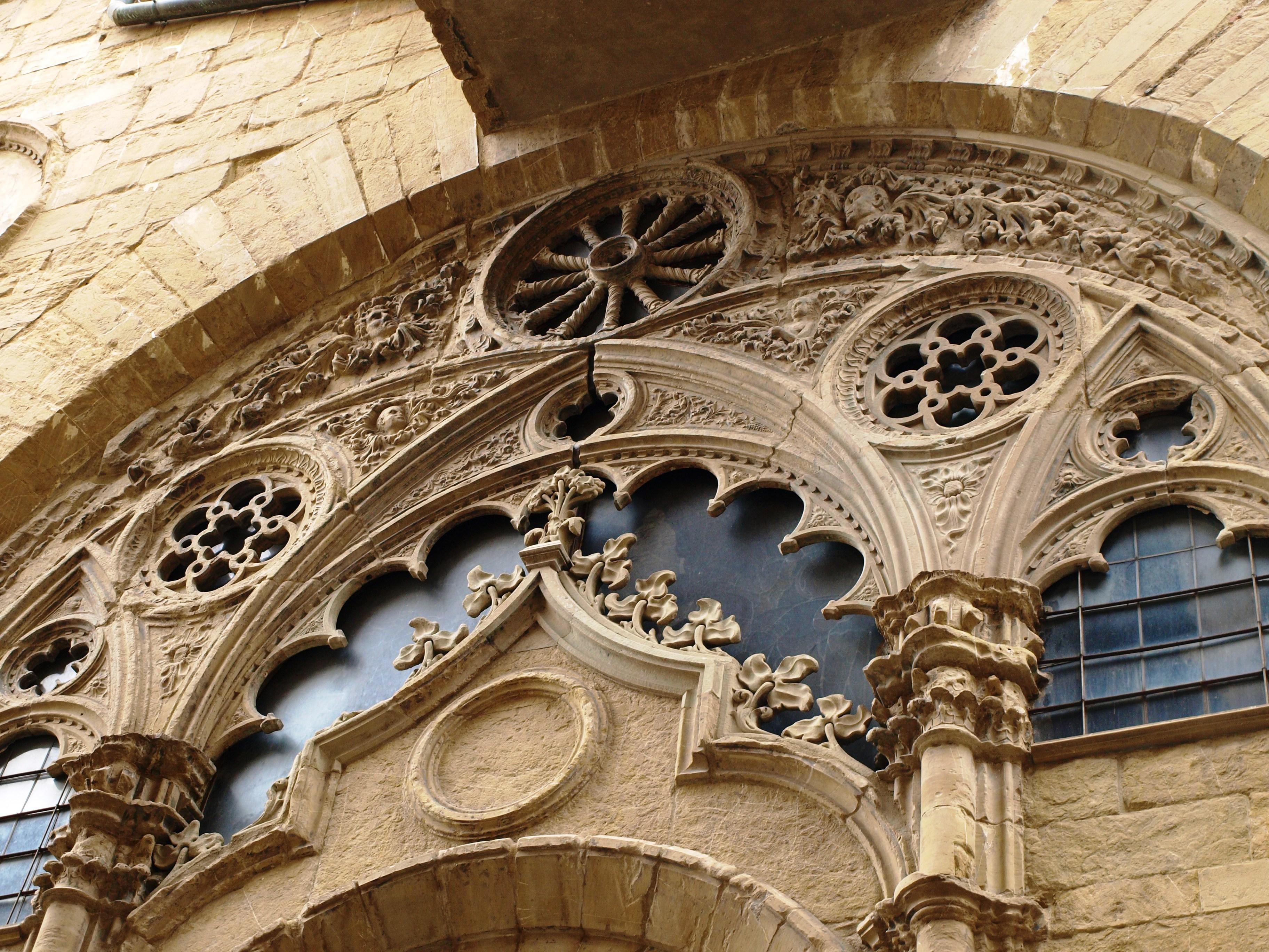 Itálie - Florencie - Orsanmichelle, detail kružby oken