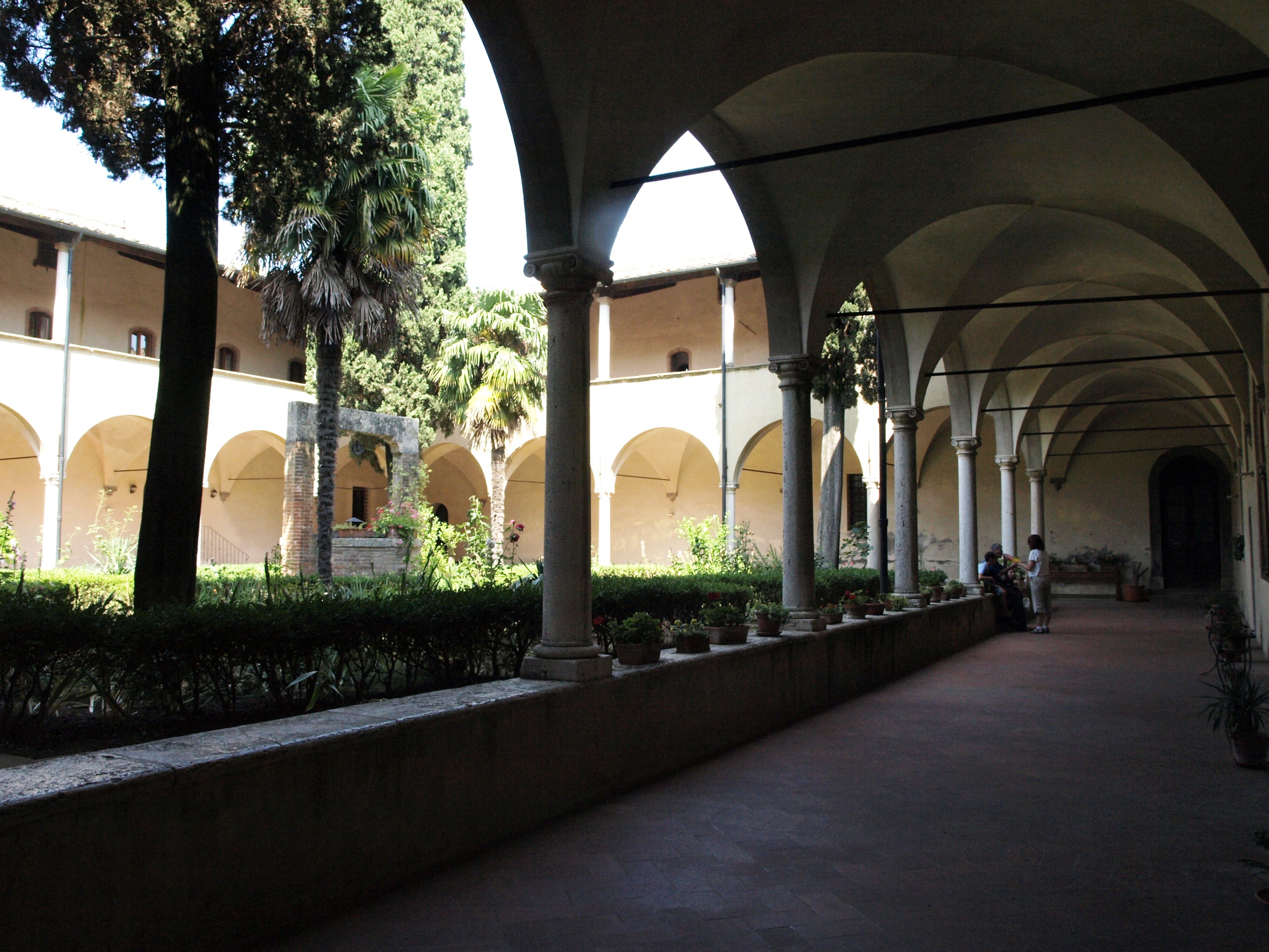 Itálie - San Gimignano - křížová chodba kláštera San Agostino, 2.pol. 15.století