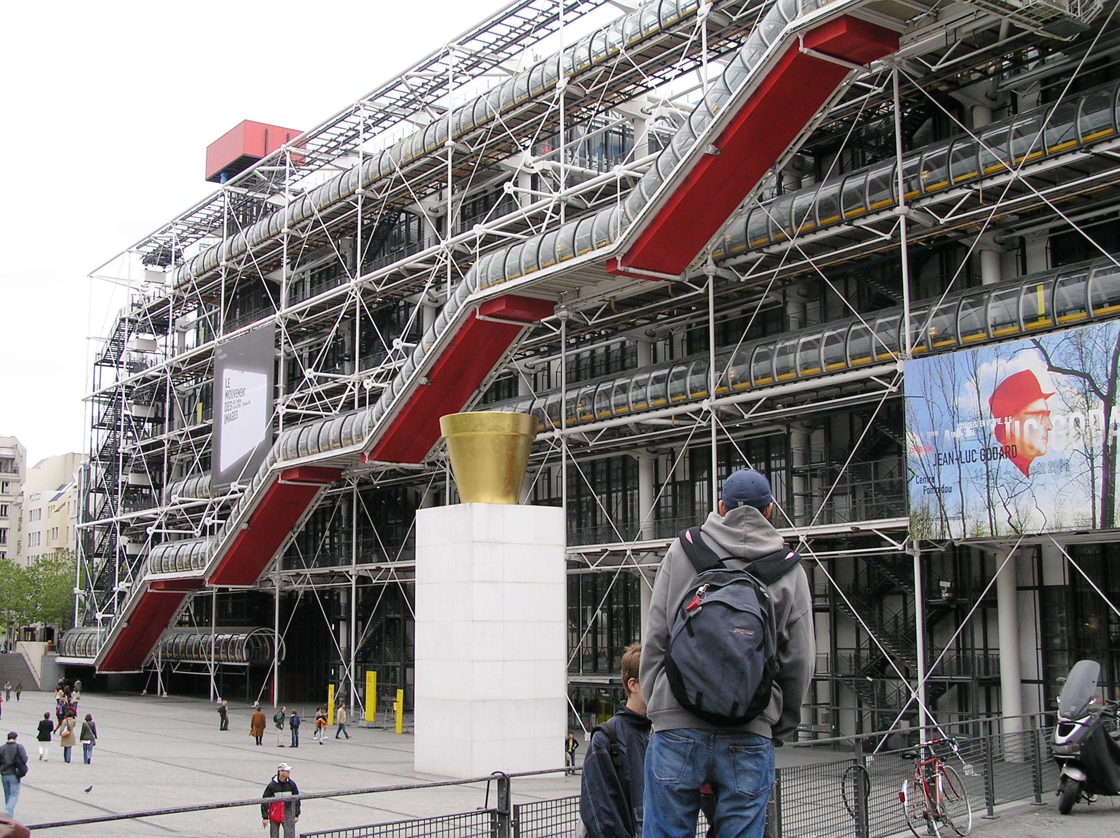 Francie - Paříž - Centre Pompidou, 1973-77, Museé National d Art Moderne, největší muzeum moder. umění