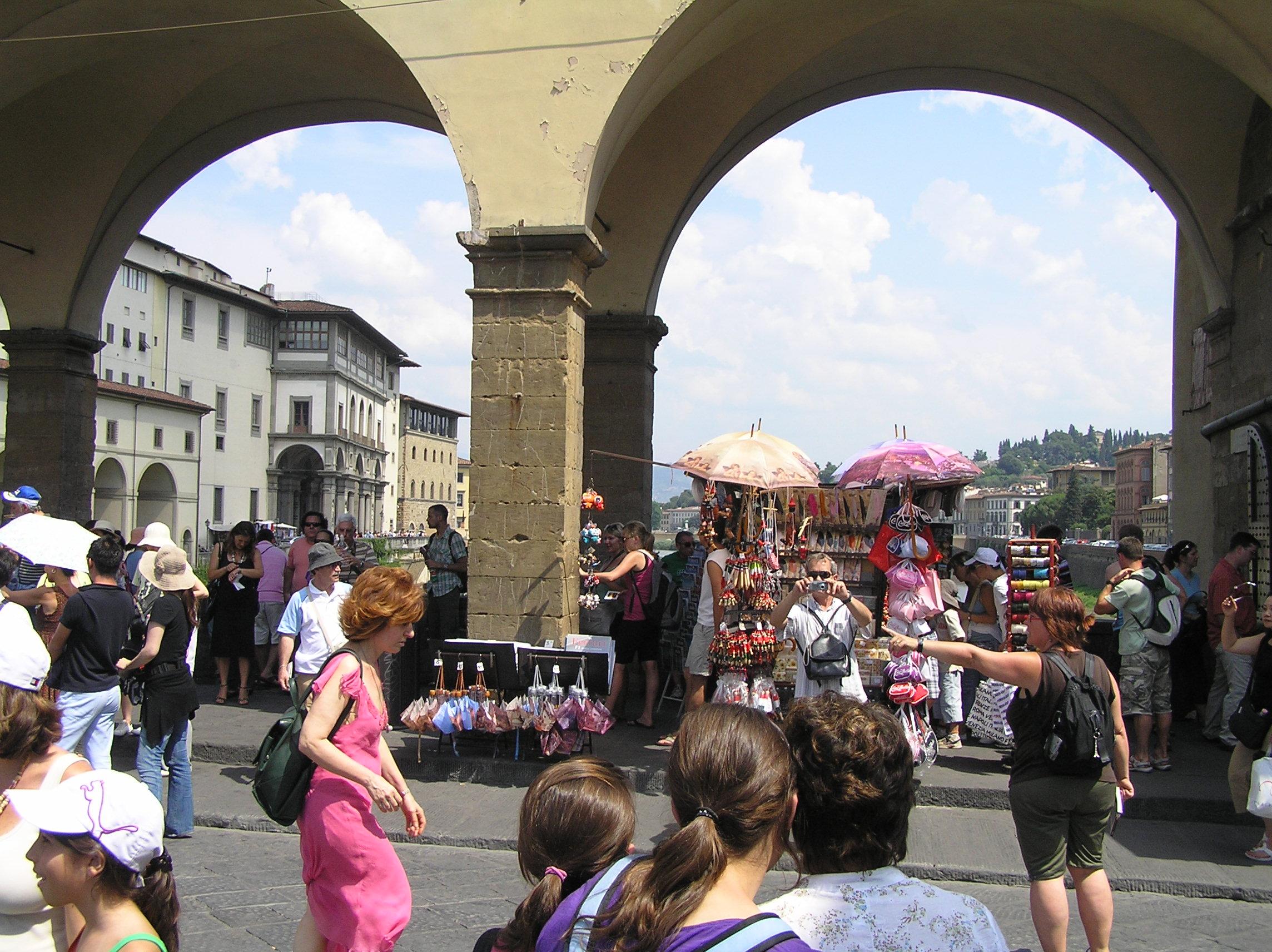 Itálie - Florencie - na Ponte Vecchio