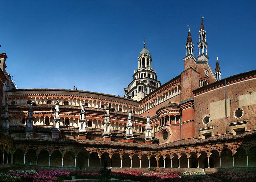 Itálie - Lombardie - Certosa di Pavia, kartuziánský klášter, 1396-1495