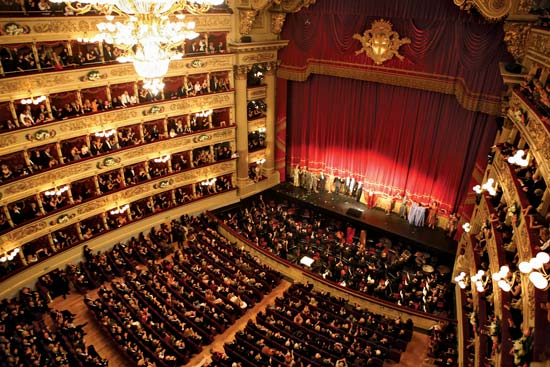 Itálie - Milán - La Scala, otevřeno roku 1776