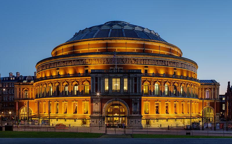 Velká Británie - Anglie - Londýn - Royal Albert Hall, tady hrají nejslavnější orchestry