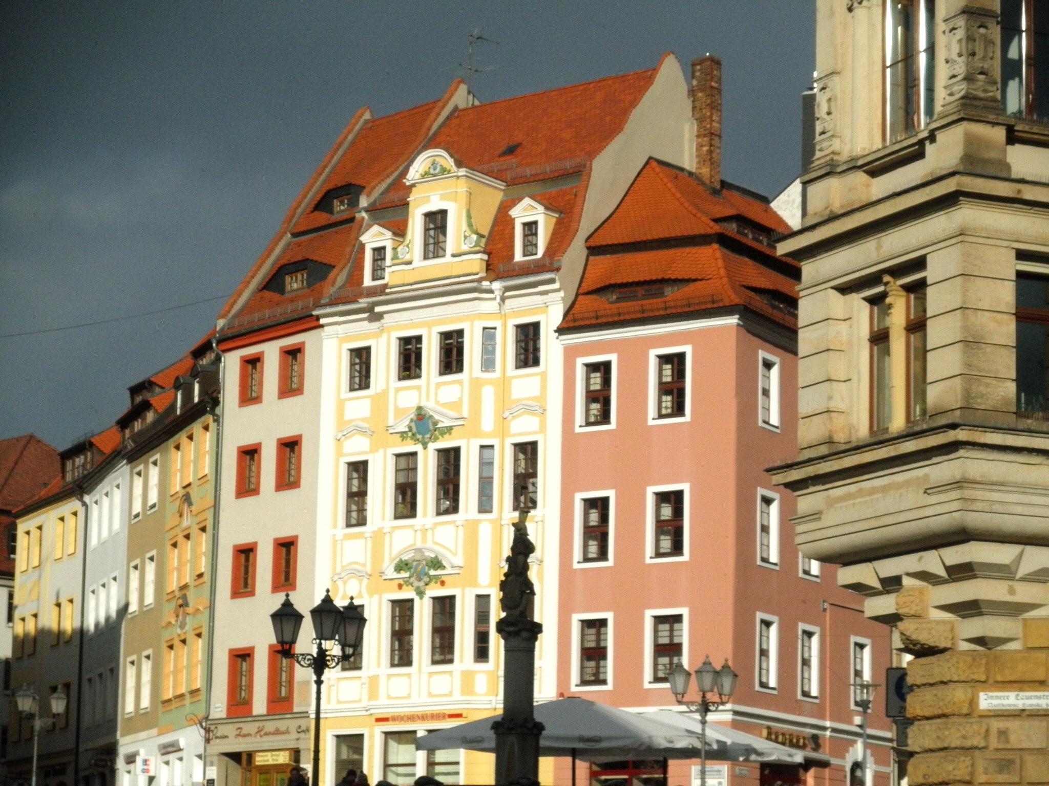 Lužice - Budyšín, barokní domy na radničním náměstí