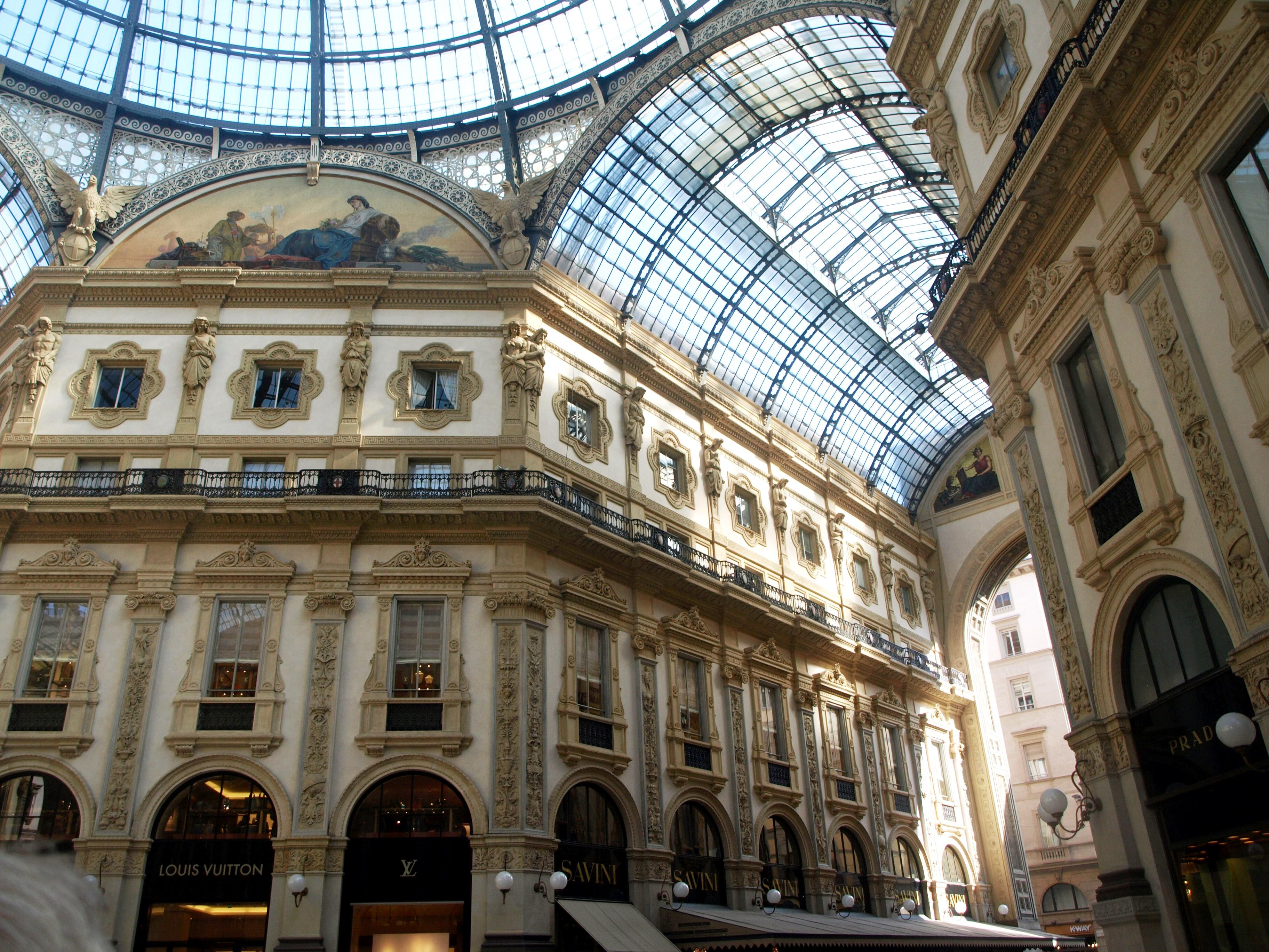 Itálie - Milán - Galleria Vittorio Emanuelle II, neorenesanční, 1865-76