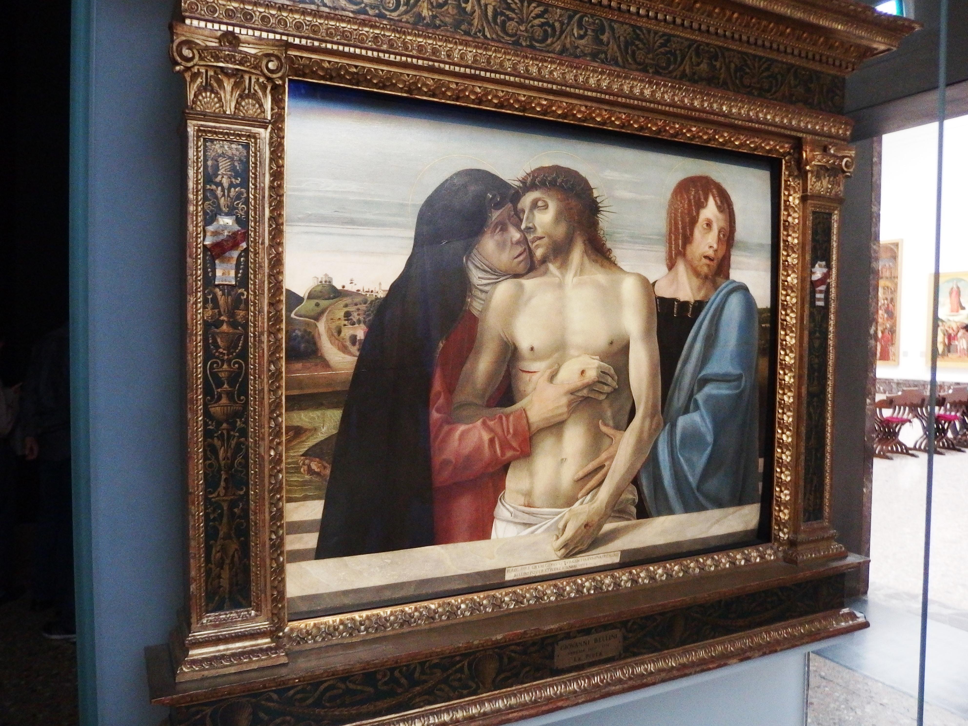Itálie - Milán - Pinacoteca di Brera, G.Belini, Pieta, 1470