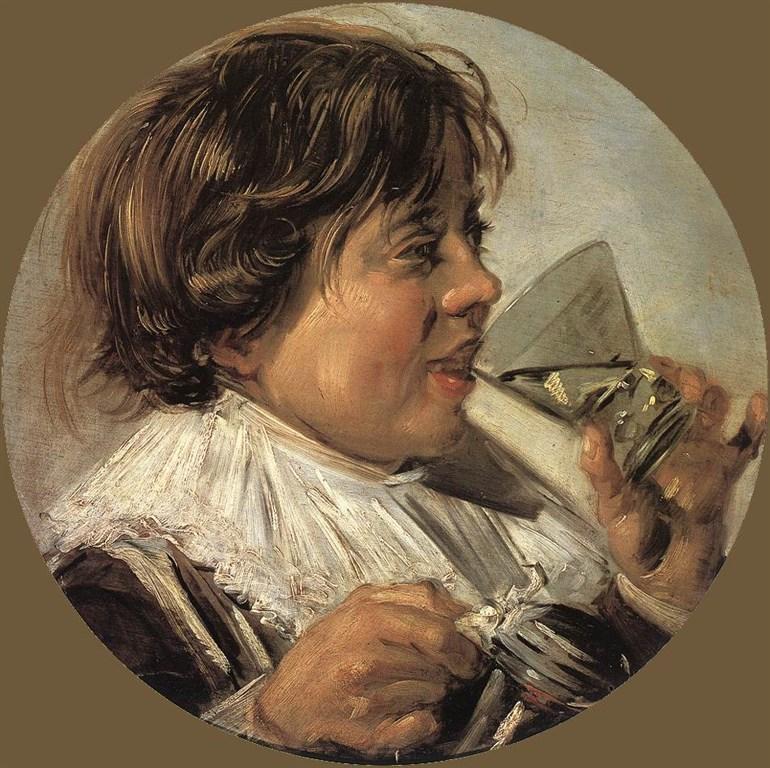 zájezdza uměním výstavy a architektura - Holandsko - Frans Hals, Pijící hoch, 1626-8