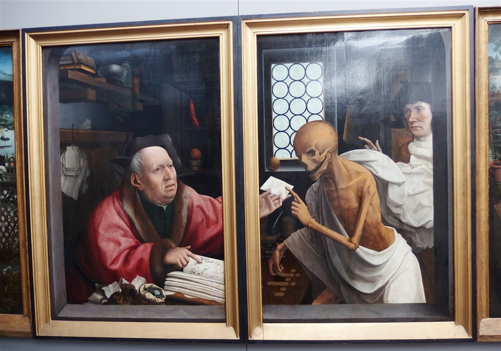 zájezdza uměním výstavy a architektura - Belgie - Bruggy - Boháč a Smrt, J.Provoost, 1515-21