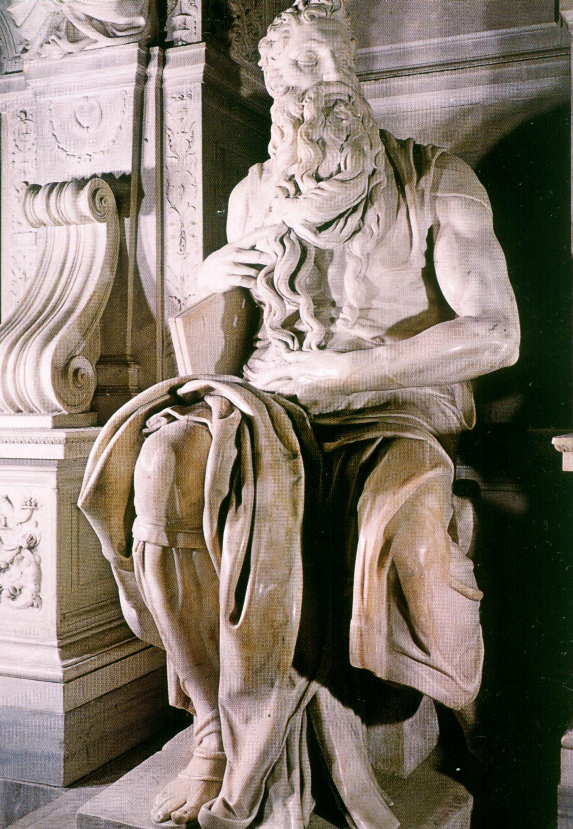 Itálie - Řím - Michelangelova socha Mojžíše (1514-16) v S.Pietro in Vincoli
