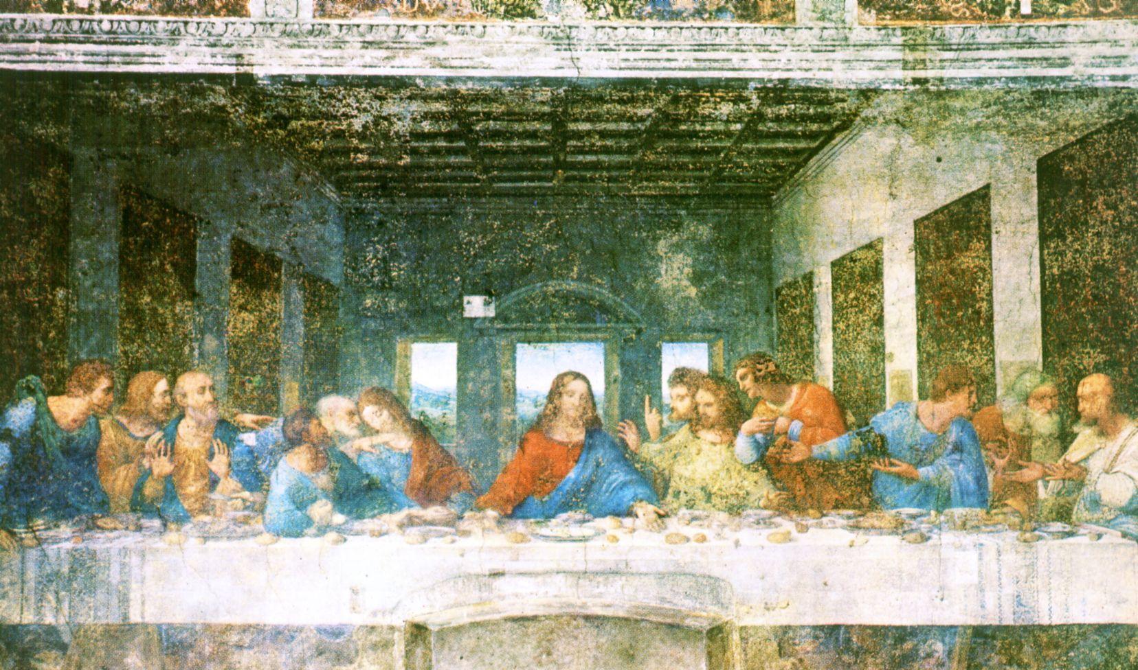 Itálie, Lombardie, Milán, Leonardo Poslední večeře