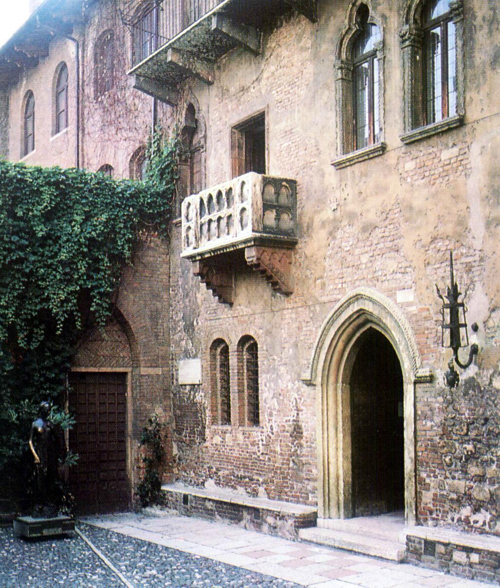 Itálie - Benátsko - Verona, balkon tak dobře známý z Julie a Romea