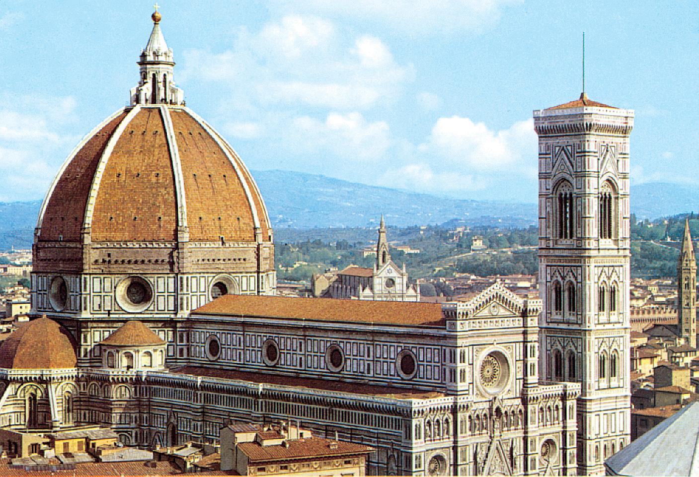 Itálie - Florencie - dóm, jeden ze skvostů středověké architektury, 1296-1468, několik architektů včetně Giotta