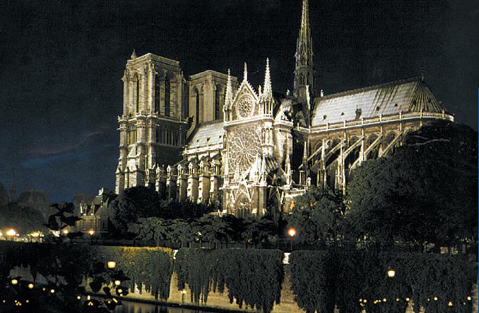 Francie - Paříž katedrála Notre Dame, 1163-1330, jeden z vrcholů gotiky