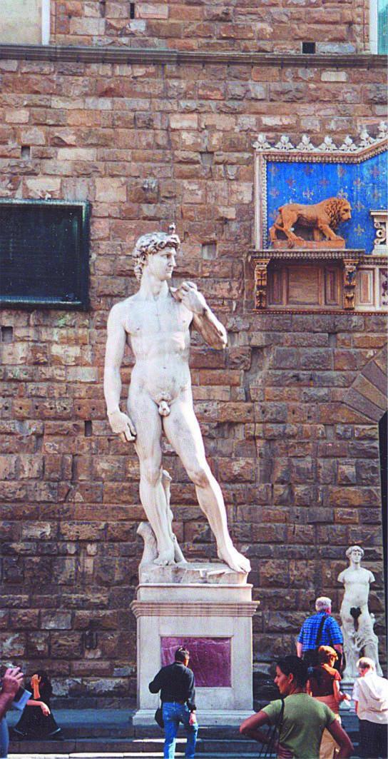 Itálie - Toskánsko - Florencie, David od Michelangela, 1501-4, carrarský mramor