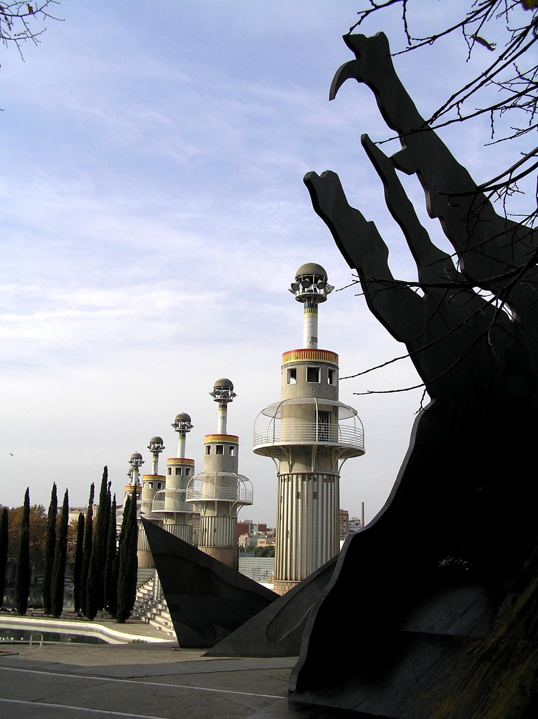 Španělsko, Barcelona, moderní park