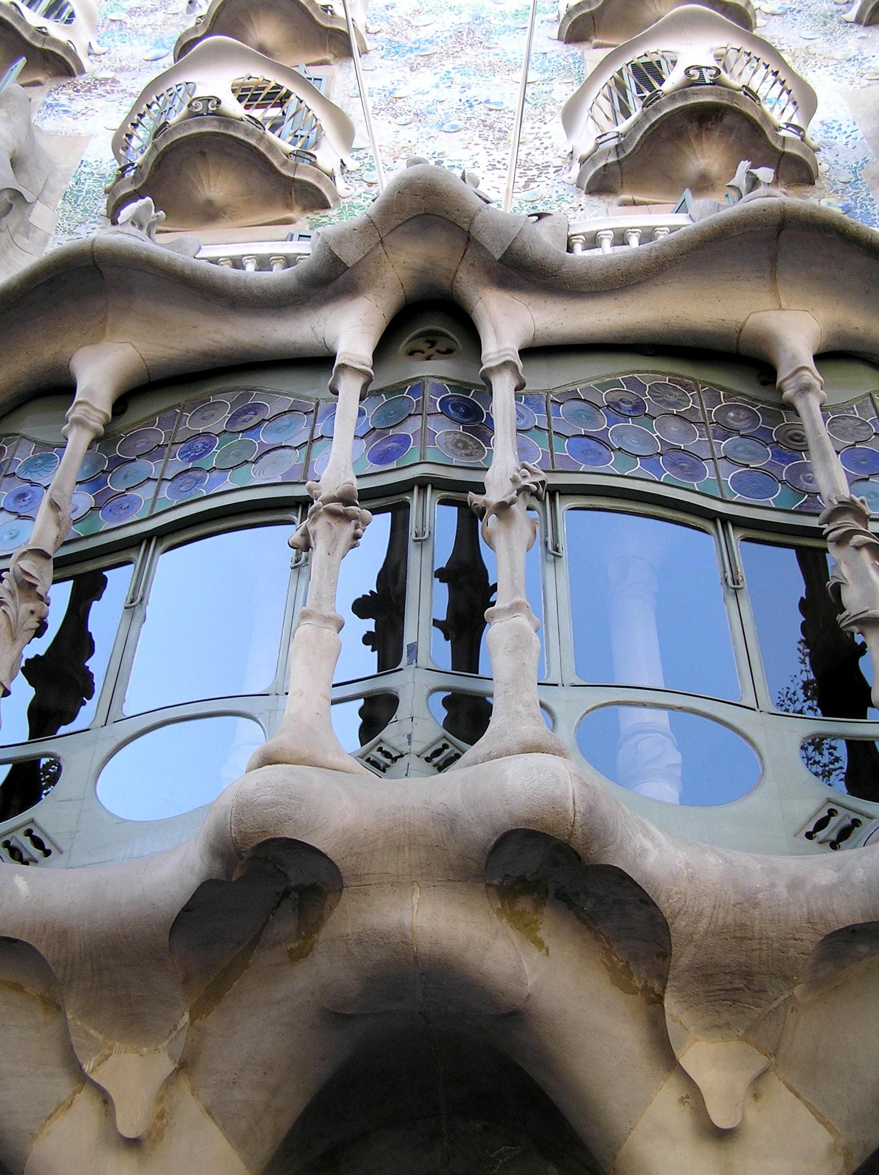 Španělsko, Barcelona, Casa Batlo, detail
