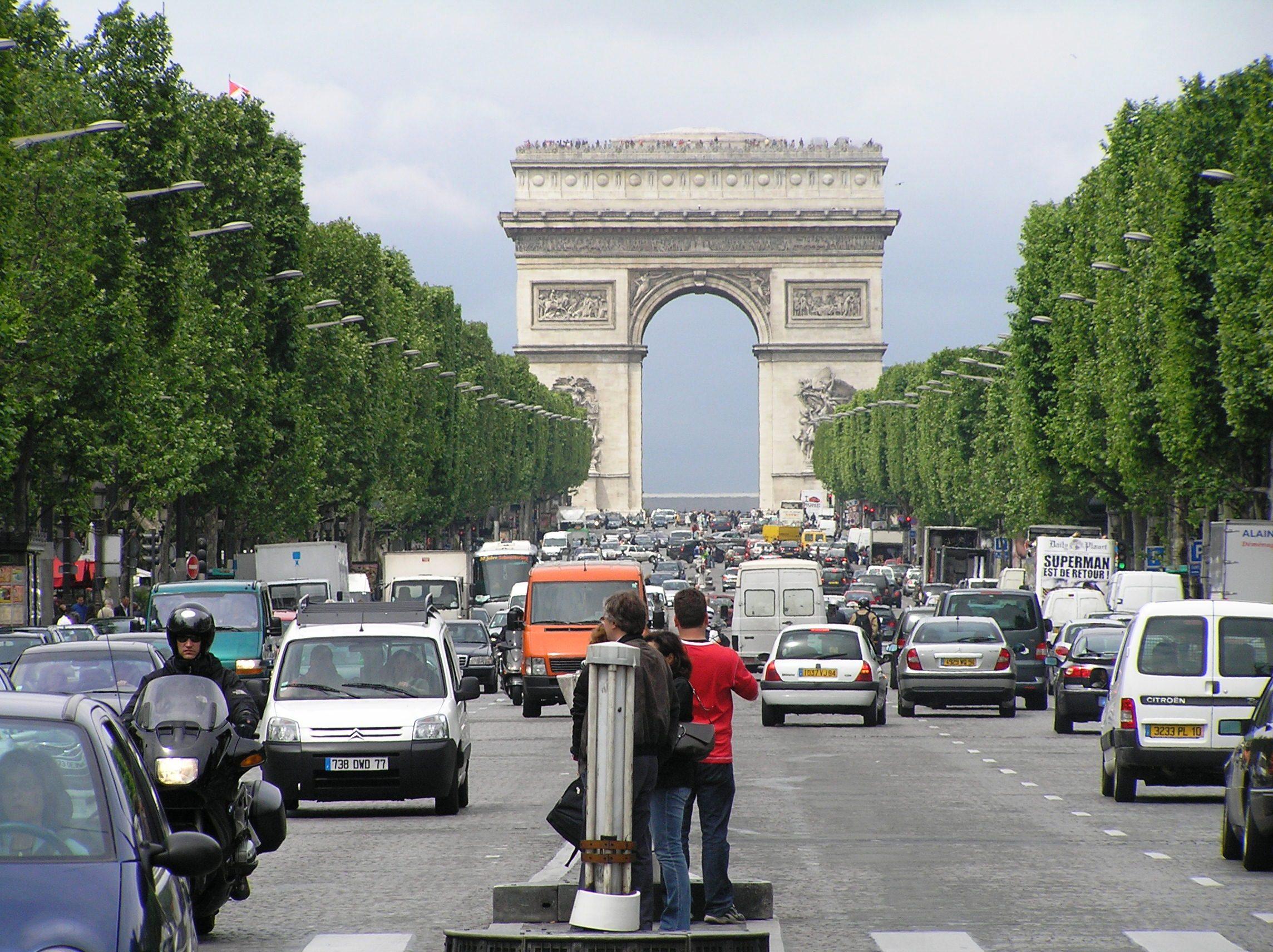 Francie, Paříž, Vítězný oblouk