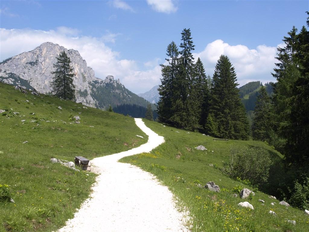 národní parky a zahrady - Rakousko - NP Kalkalpen, turistika po horských chodníčcích