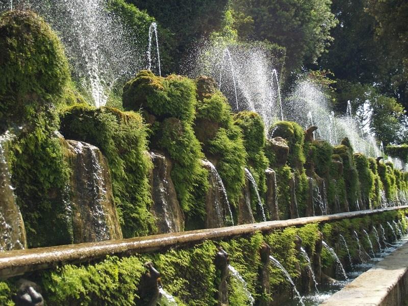 národní parky a zahrady - Itálie - Tivoli - Villa d´Este - tzv. Sto fontán