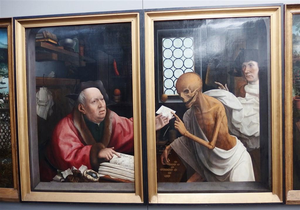 zajímavosti - Belgie - Bruggy - Boháč a Smrt, J.Provoost, 1515-21