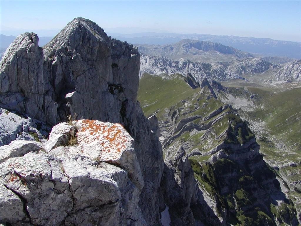 národní parky a zahrady - Černá Hora - pohoří Durmitor - Bobotuv Kuk, 4. nejvyšší hora země, 2523 m